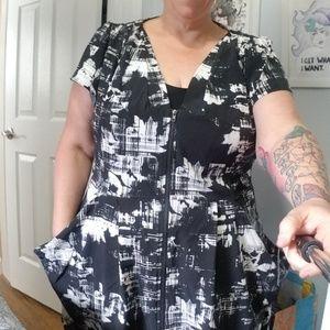 City Chic Zip Front Tunic Dress L/20